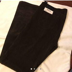 New Brown vintage lei Faux suede pants
